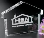 House Paper Weight Crystal Glass Awards