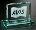 Huntington Rectangle Crystal Glass Awards