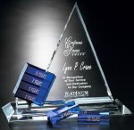 Goal-Setter Triangle Crystal Glass Awards