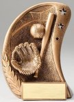 Curve Action Series Sculpted Antique Gold Baseball Resin Trophy  Curve Action Series Sculpted Antique Gold Resin Tr