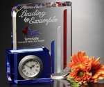 Chesterfield Clock Crystal Award Desk Clocks