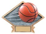 Basketball Diamond Plate Resin  Diamond Plate Resin Trophy Awards