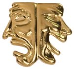Gold Drama Metal Chenille Letter Insignia Drama Trophy Awards