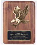 Solid American Walnut Plaque Eagle Awards