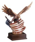 Eagle With Flag  Wing Span Eagle Trophy Awards