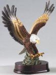 Eagle In Flight On Wood Base Eagle Trophy Awards