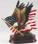 Eagle with American Flag On Base Eagle Trophy Awards