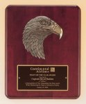 Antique Eagle Rosewood Piano Finish Plaque Eagle Trophy Awards