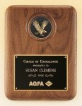 American Walnut Plaque with Eagle Medallion Eagle Trophy Awards