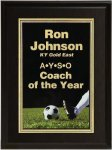 Matte Black Finish Soccer Plaque Award Economy Plaque Awards