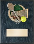 Tennis Resin Plaque Mount Award Economy Plaque Awards
