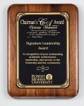 American Genuine Walnut Plaque with Satin Finish Employee Awards