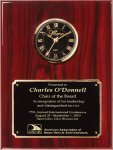 Genuine Rosewood Piano Finish Clock Plaque Employee Awards