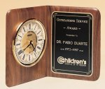American Walnut Book Clock Employee Awards