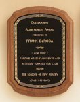 American Walnut Plaque with Braided Border Employee Awards