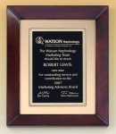 Cherry Finish Wood Frame Plaque Employee Awards