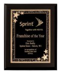 Matte Black Finish Starburst Plaque Award Employee Awards