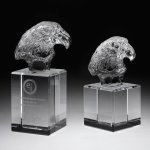 Eagle Head II Crystal Award Employee Awards