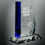Blue Wave Glass Award Employee Awards