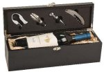 Black Finish Single Wine Box With Tools Executive Gift Awards