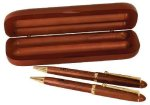 Rosewood Pen, Pencil & Case Set Executive Gift Awards