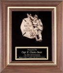 Genuine Walnut Fireman Plaque Fire and Safety Awards