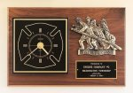 Fireman Award Clock with Antique Bronze Finish Casting. Firefighter Trophy Awards