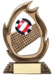 Flame Series Volleyball Flame Resin Trophy Awards