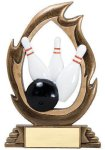 Flame Series Bowling Flame Resin Trophy Awards