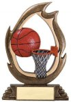 Flame Series Basketball Flame Resin Trophy Awards