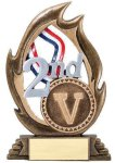 Flame Series Second Flame Resin Trophy Awards