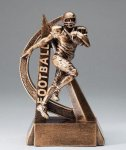 Ultra Action Series Sculpted Antique Gold Football Resin Trophy  Football Trophy Awards