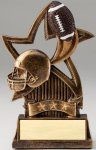 Star Series Sculpted Antique Gold Football Resin Trophy  Football Trophy Awards