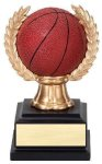 Wreath Sport Ball Basketball Full Color Wreath Resin Trophy Awards
