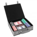 Leatherette Poker Gift Set  Gray Game Gifts