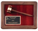Genuine Walnut Frame Gavel Plaque Gavel Plaques