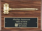 Genuine Walnut Gavel Plaque Gavel Plaques