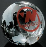 Clipped Globe Globe Crystal Awards