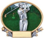 3D Oval Golf M Golf Awards