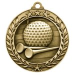 2 3/4 Golf Wreath Award Medallion Golf Trophy Awards