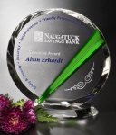 Danbury Circle Crystal Award Green Optical Crystal Awards
