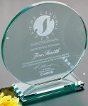 Cromwell Circle Green Optical Crystal Awards