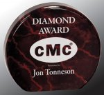Round Circle Acrylic Award Marble Awards