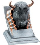 Buffalo Mascot Mascot Resin Trophy Awards
