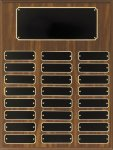 Walnut Finish Perpetual Plaque Medium Perpetual Plaques