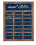 Recognition Pocket Perpetual Plaque with Blue Plates Medium Perpetual Plaques