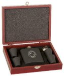 Rosewood Finish Flask Gift Set Misc. Gift Awards