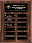 Walnut Barhill Perpetual Plaque Monthly Perpetual Plaques