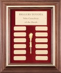Genuine Walnut Frame Monthly Perpetual Plaques