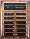 Genuine American Walnut Petpetual Plaque Monthly Perpetual Plaques
